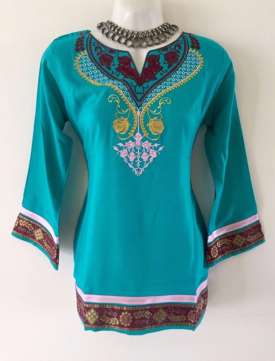 100 Pakistani Bridal Dresses 2018 For Wedding Parties 8: Blusa Moda Pakistani 100% Lino Talla Ch