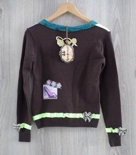 blusa modal tricô maria henriqueta patchwork decote v