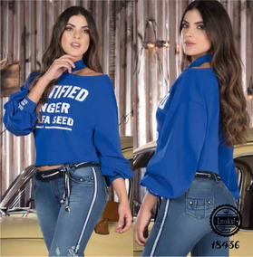 944f50cd0b99 Blusa Moderna Para Dama, Tipo Campana, Cuello Bandeja