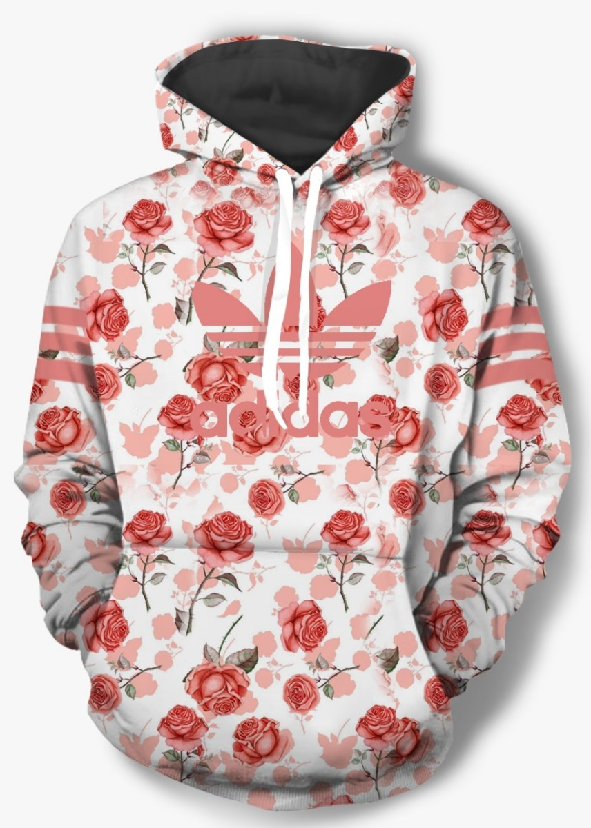 88665b7c762 blusa moletom agasalho adidas floral feminino - frete grát. Carregando zoom.