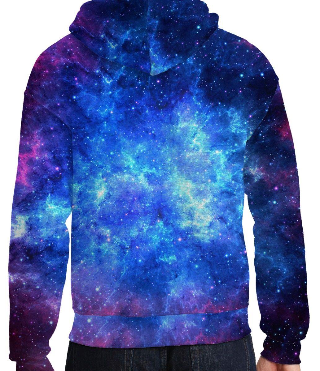 a04b761d9 blusa moletom bolso lateral capuz tumblr galaxia unicornio. Carregando zoom.