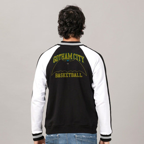 2686493110 Blusa Moletom Bomber Batman Basketball Oficial Dc Comics