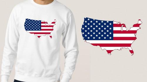 blusa moletom branco bandeira estados unidos eua  inverno