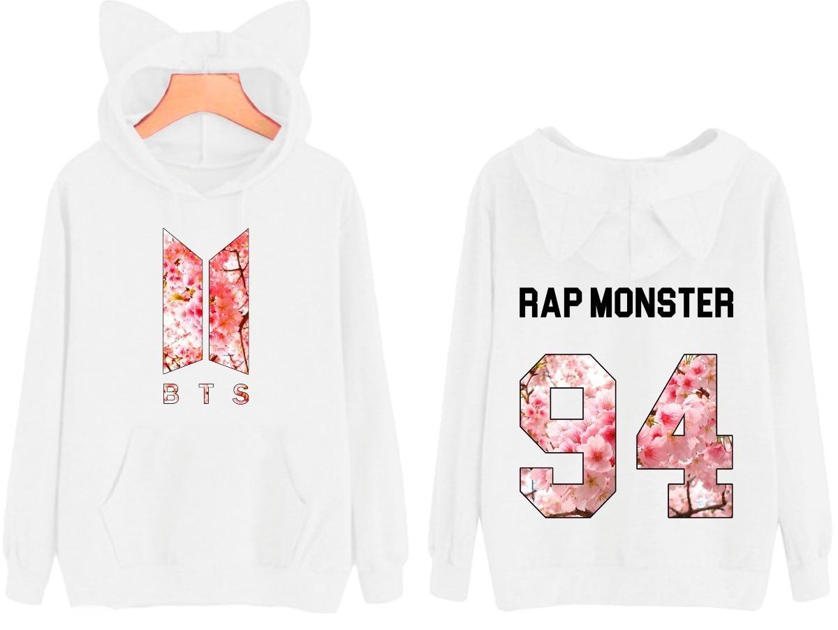 a8ae9ef17f227 blusa moletom bts kpop rap monster 94 banda casaco de frio. Carregando zoom.