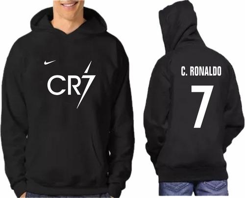 blusa moletom cr7 cristiano ronaldo estampa frente costas