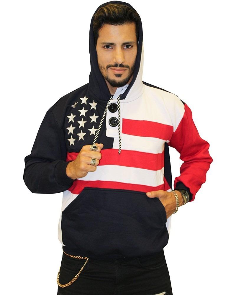 f9499ee0a3 blusa moletom de marca bandeira americana estados unidos. Carregando zoom.