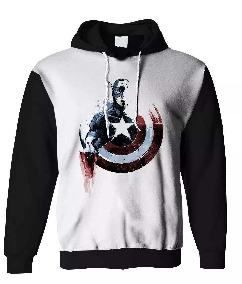 d33c86a93 blusa moletom estampa full 3d super heroi capitão america. Carregando zoom.