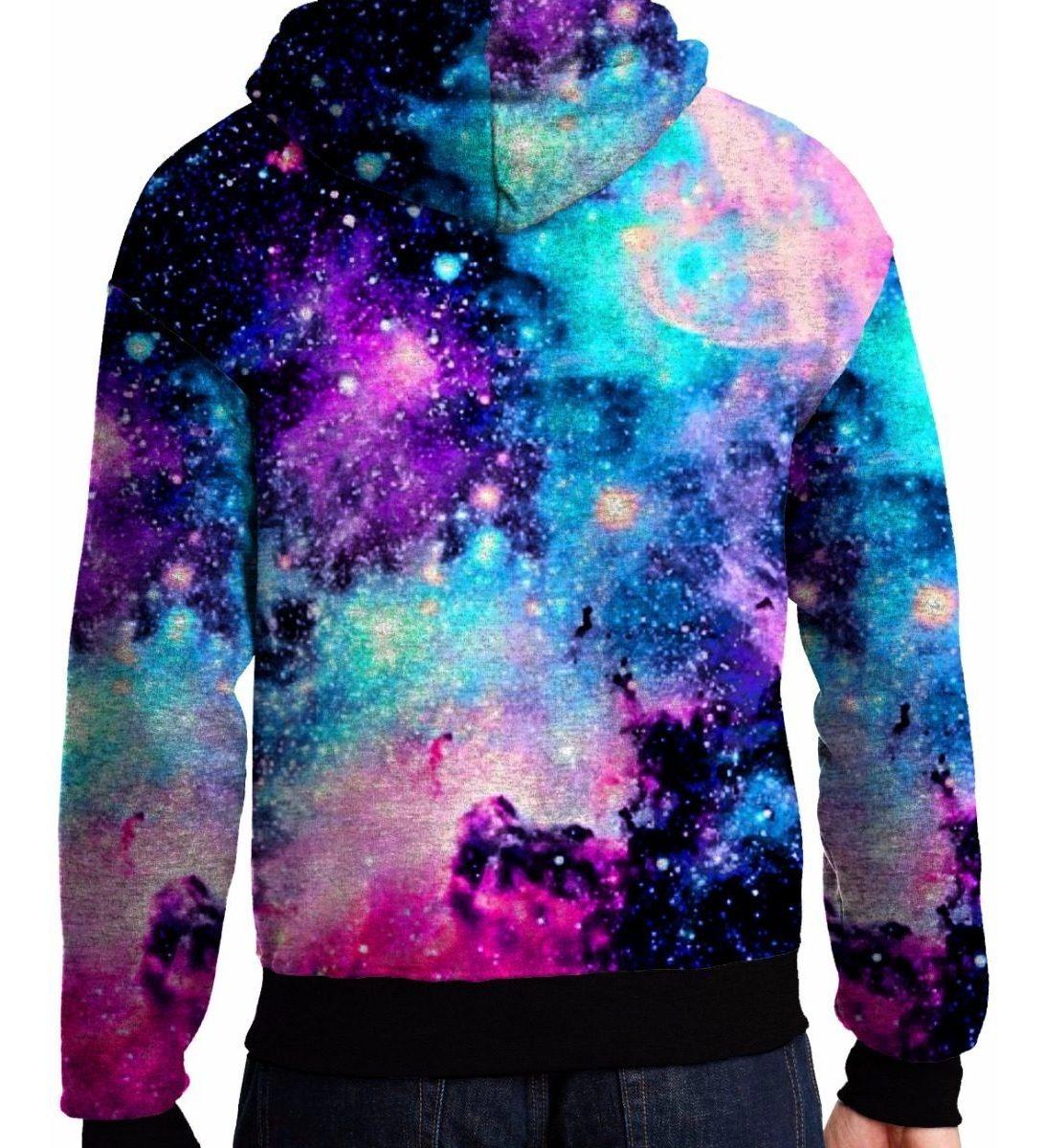 Blusa Moletom Galaxia Nebulosa Universo Unissex Tumblr Pop R