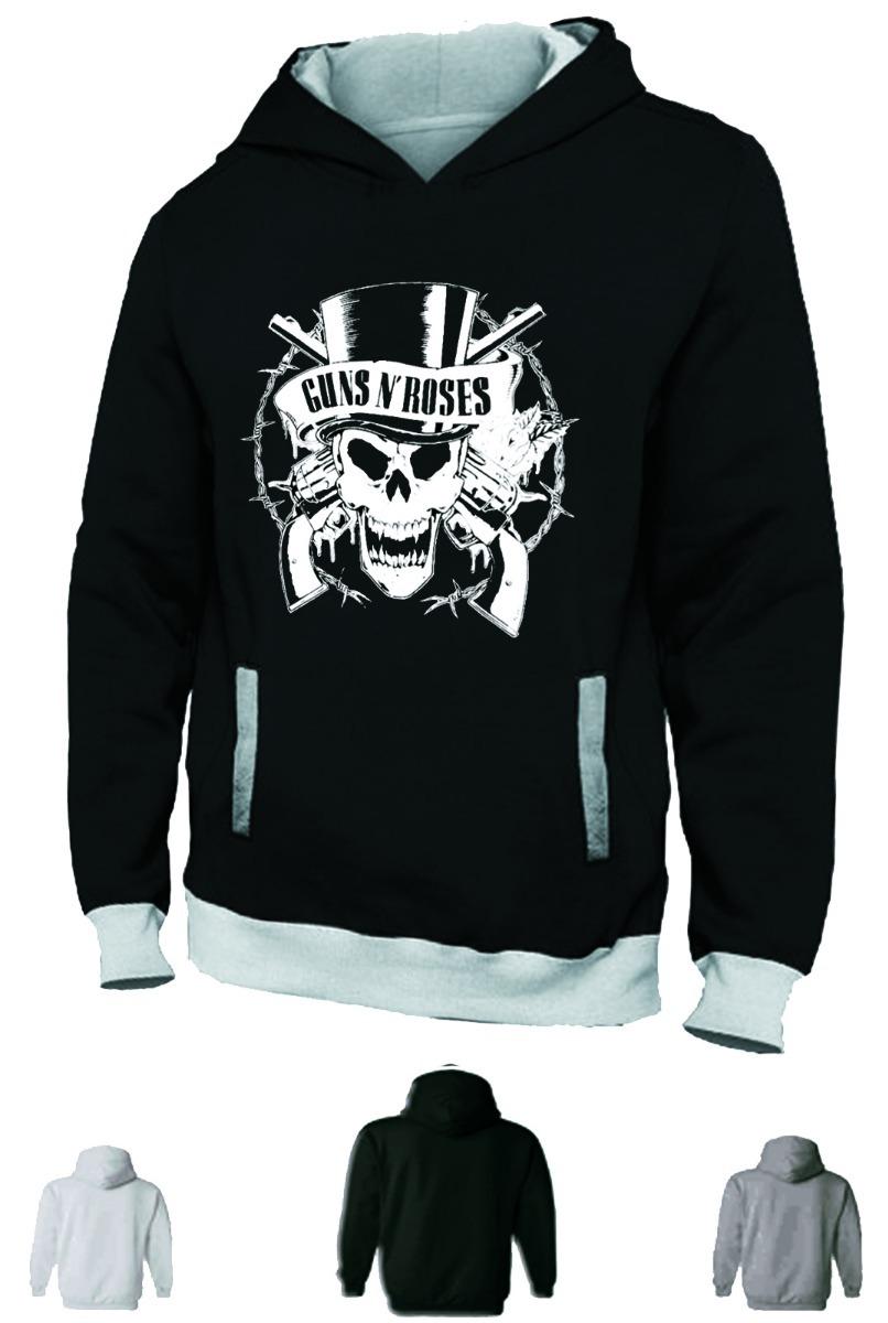 97dcfc9678a92 Blusa Moletom Guns Roses Moleton Banda Casaco Rock Frio Axel - R$ 79 ...