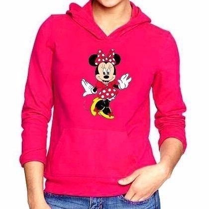 Blusa Moletom Minnie Mickey Mouse Desenho Fofo Canguru Top R