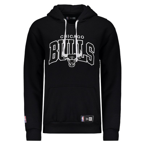 blusa moletom new era chicago bulls original nf