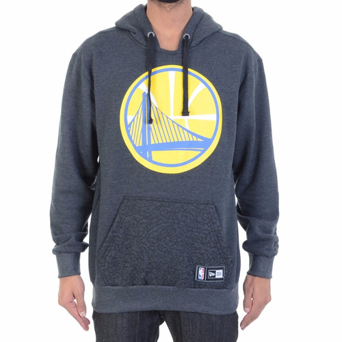 blusa moletom new era full print golden state