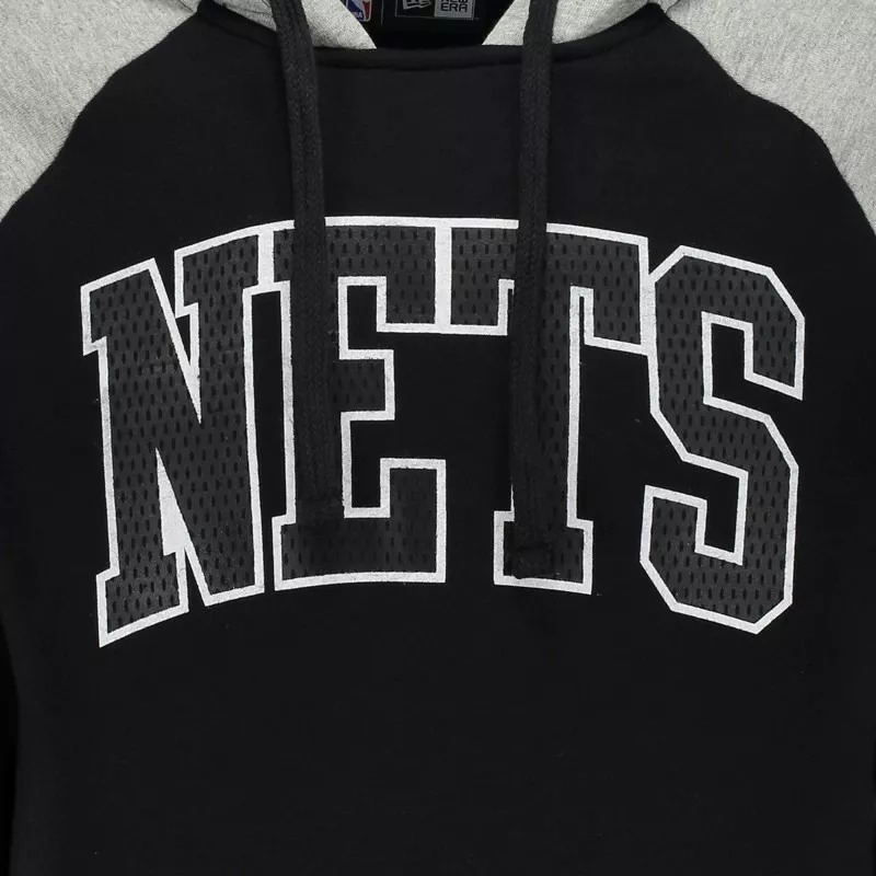 c757168687132 blusa moletom new era nba brooklyn nets raglan preto e cinza. Carregando  zoom.