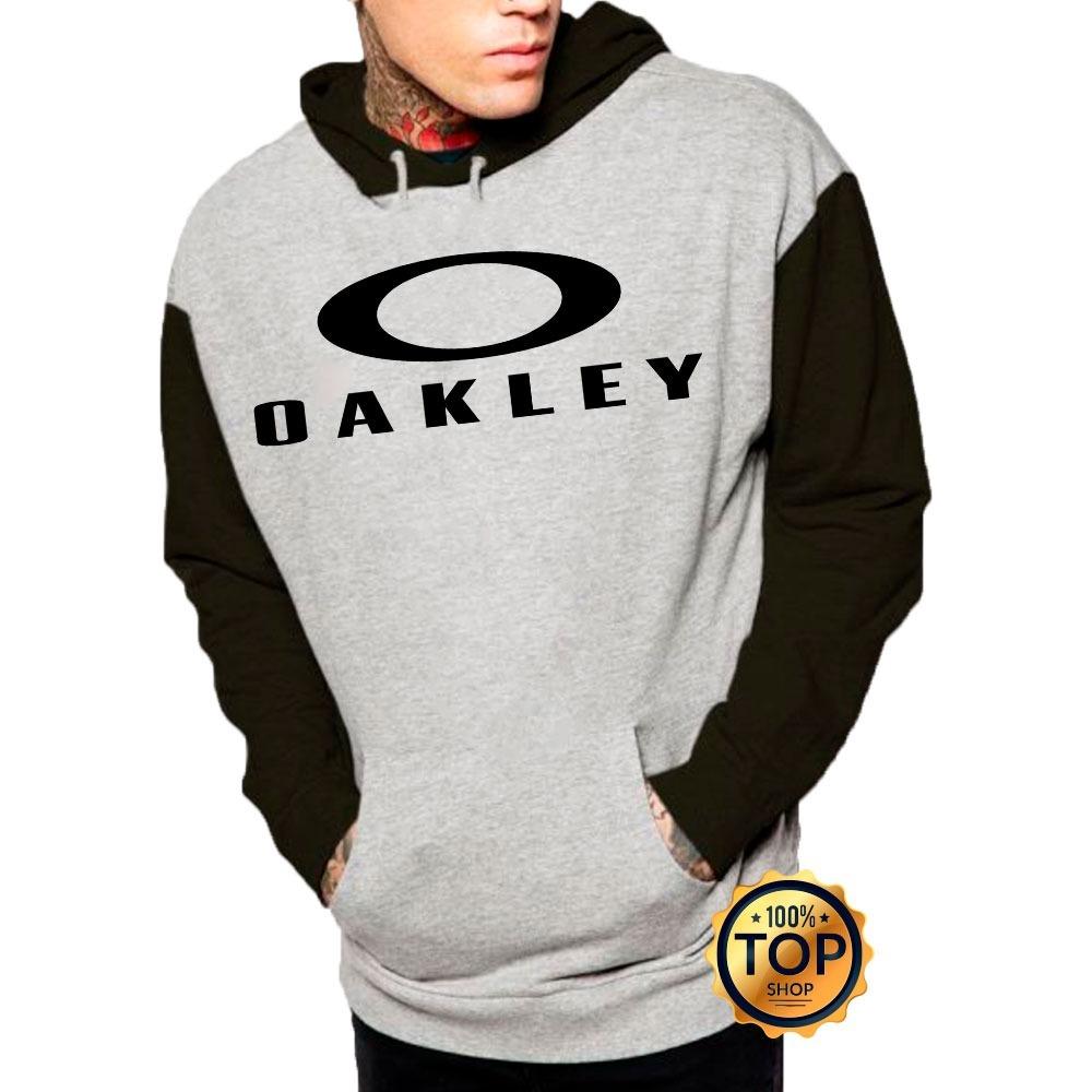 blusa moletom oakley com letras de frio moleton casaco. Carregando zoom. 611d40cf910
