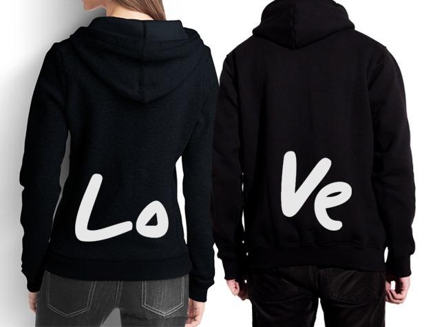 f2e9e6668 Blusa Moletom Personalizada Love Casal Namorados Canguru - R  199