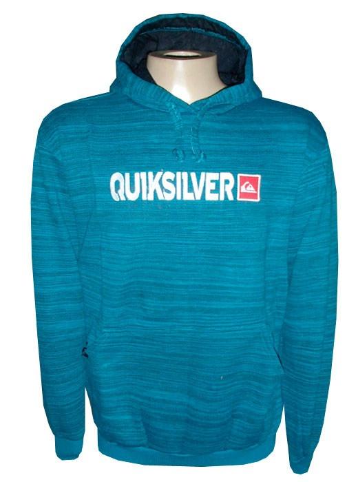 Blusa Moletom Quiksilver Azul Ciano Rajada Qs - R  103,93 em Mercado ... 26563abb49