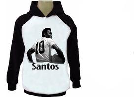 7199f8b2d33 Blusa Moletom Santos Futebol Casaco Moleton Canguru Raglan 3