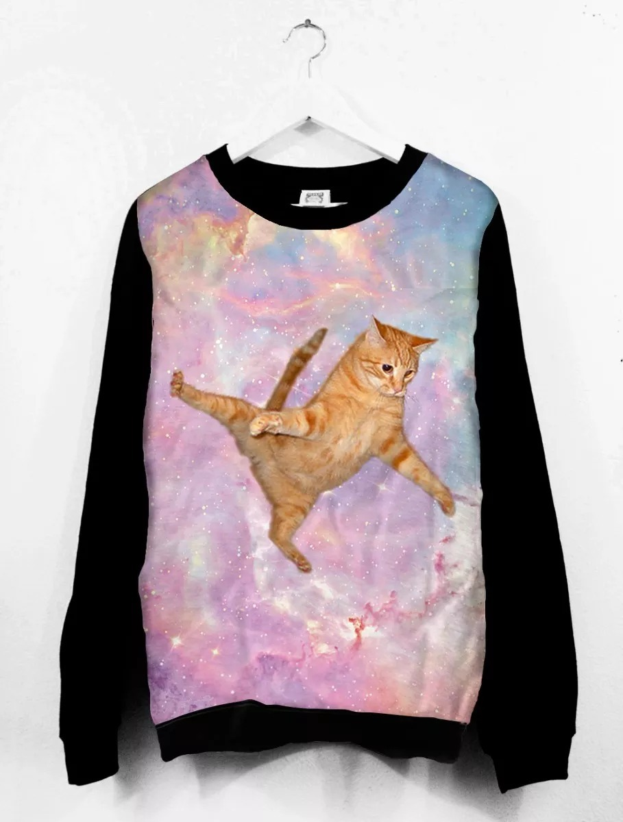 Blusa moletom tumblr gato psicodelico full estampado carregando zoom jpg  909x1200 Blusas tumblr estampado 675f493381d
