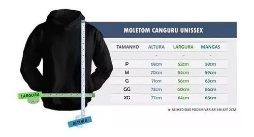 blusa moleton classic masculino c/ capus casaco de frio