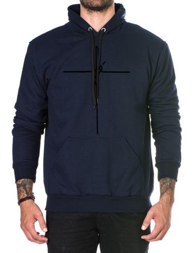 blusa moleton fé classic masculino c/ capus casaco de frio
