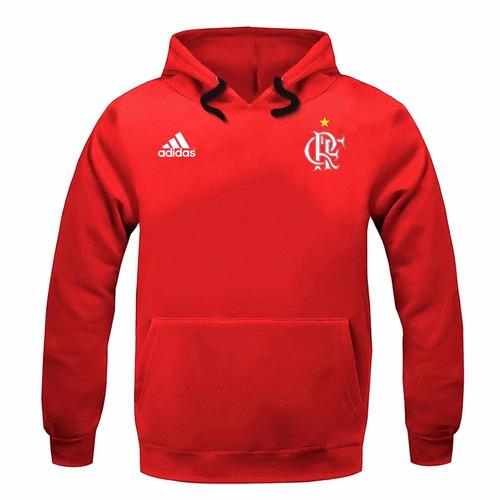 blusa moleton moletom casaco flamengo futebol - frete grátis