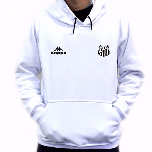 Blusa Moleton Time Santos Futebol Clube Torcedor Kappa - R  67 f19fc6d3c6e87