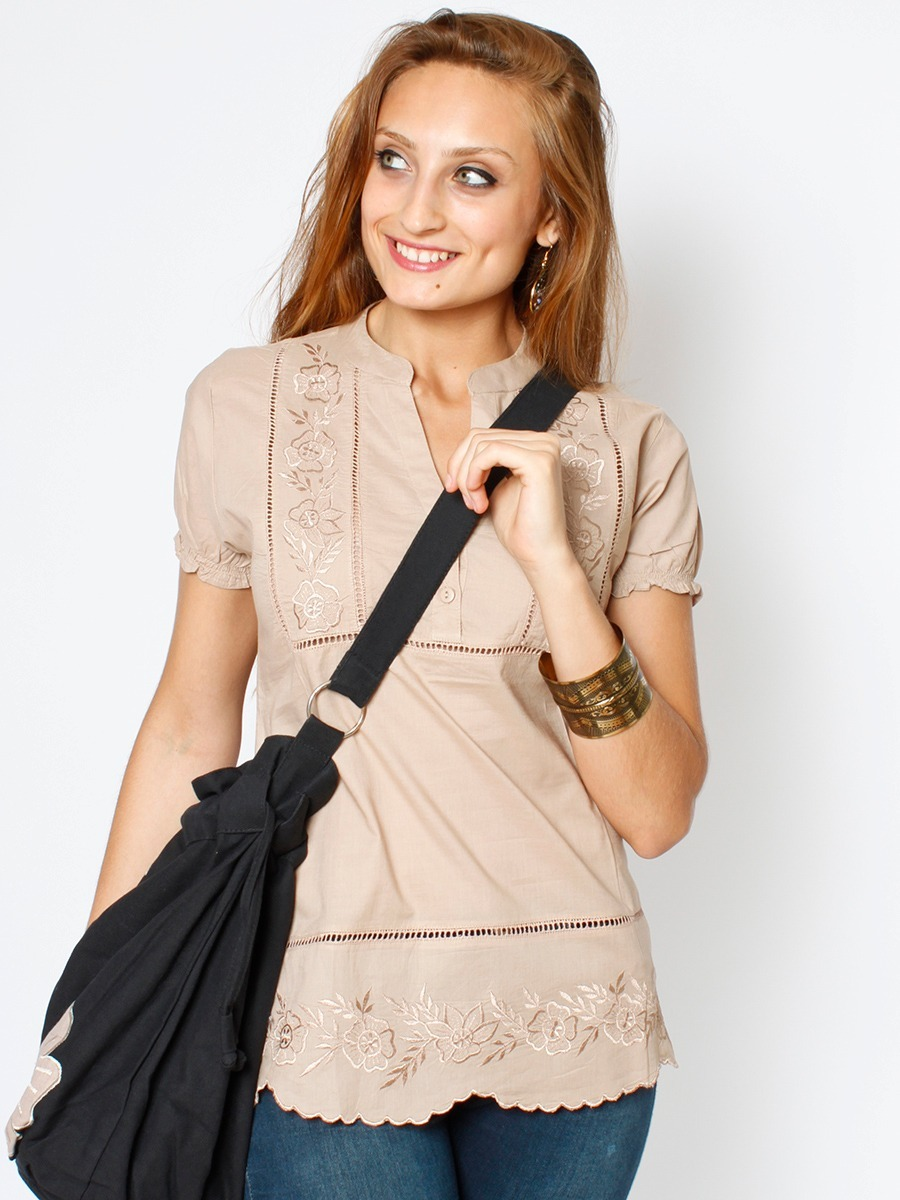 importada manga blusa Cargando mujer zoom camisa bordada corta remera  r7qYwEqx d1cedaeb237