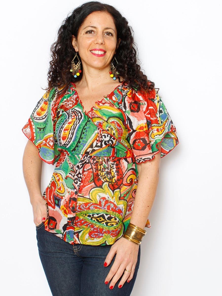 3f31b71c62 blusa mujer manga corta camisa remera estampada importada. Cargando zoom.