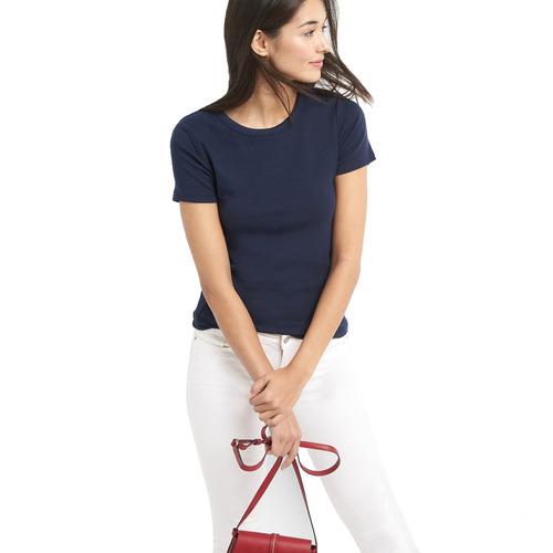 blusa mujer manga corta lisa cuello redondo gap original