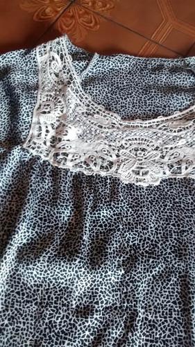 blusa mujer seda encaje importada