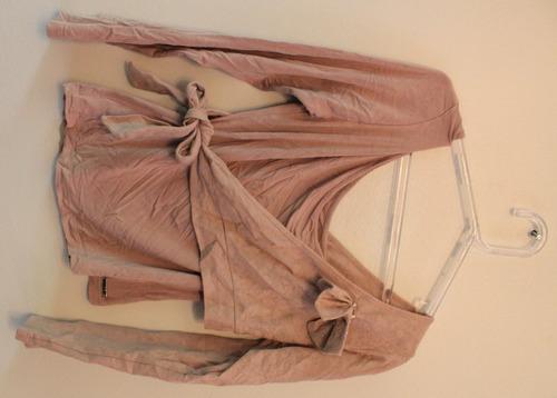 blusa mula manca com bolero rosa claro - tam: g - c.321