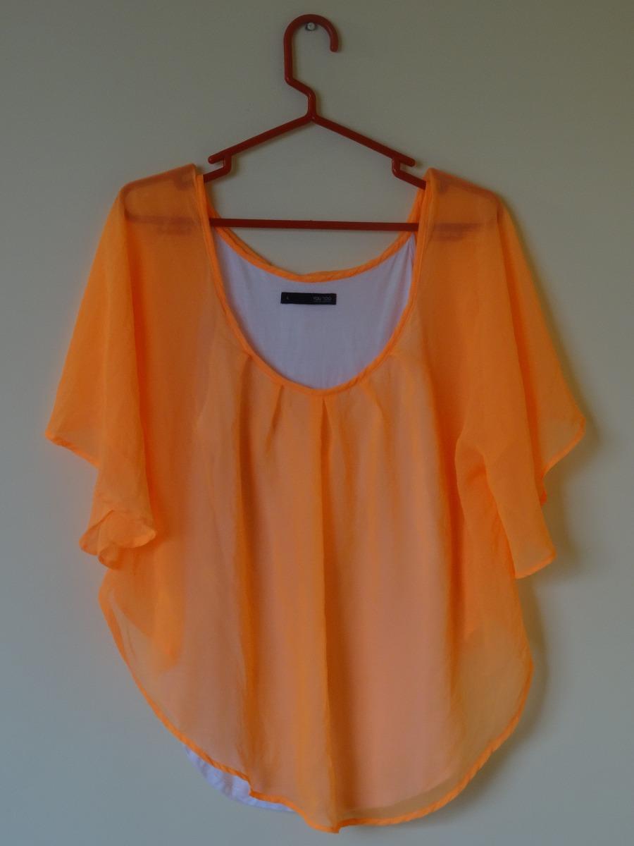 colores y llamativos reputación primero última selección de 2019 Blusa Murciélago Naranja