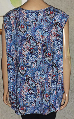 blusa musculosa fibrana larga estampada talle grande amplia