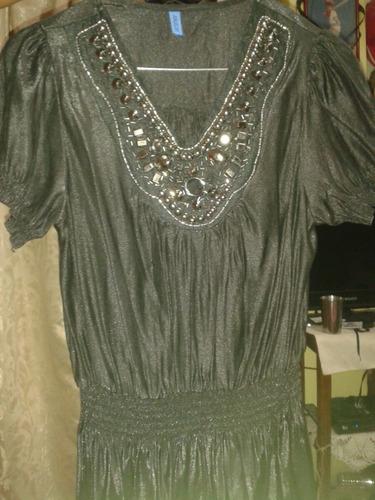 blusa negra de noche