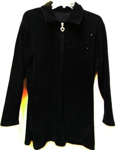 blusa negra pana  talla l
