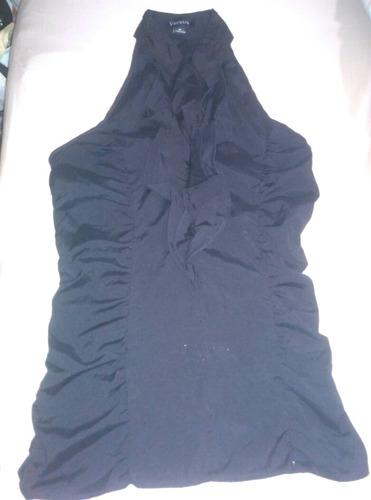 blusa negra para dama