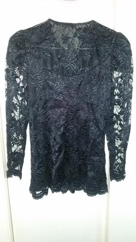 blusa negra para damas talla 9/10