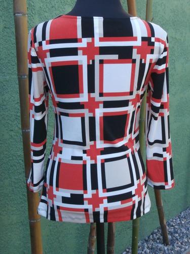 blusa new york company, en seda fría. diseño retro.