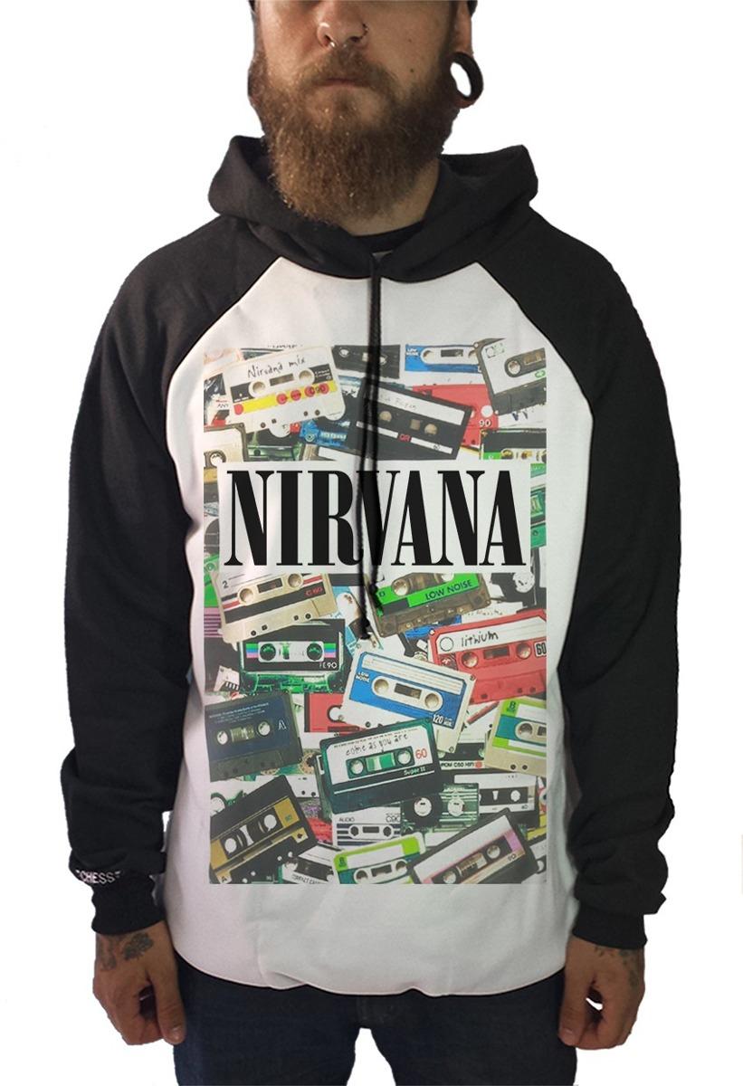 Blusa Nirvana Camiseta Regata Moletom Banda Rock Kurt Cobain - R  84 ... fd7b07a596791