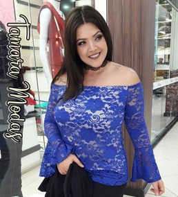 20440466ac Bico Ponta Renda Manga Longa - Camisetas e Blusas no Mercado Livre ...