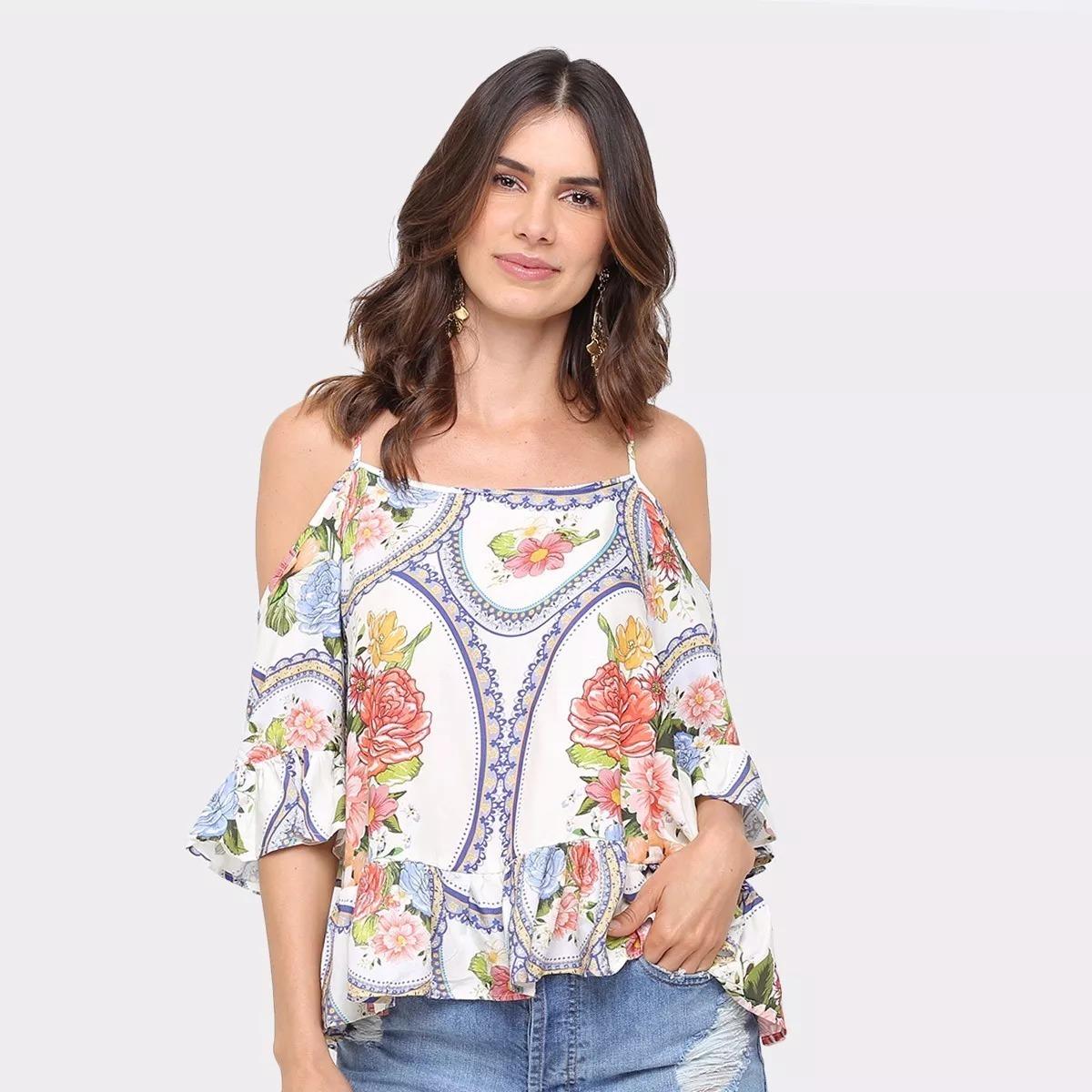 11f96879c blusa ombro vazado espelho de cor farm linda! Carregando zoom.