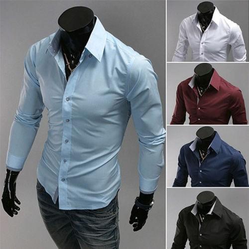 blusa ou camisa social masculina slim fit com manga longa