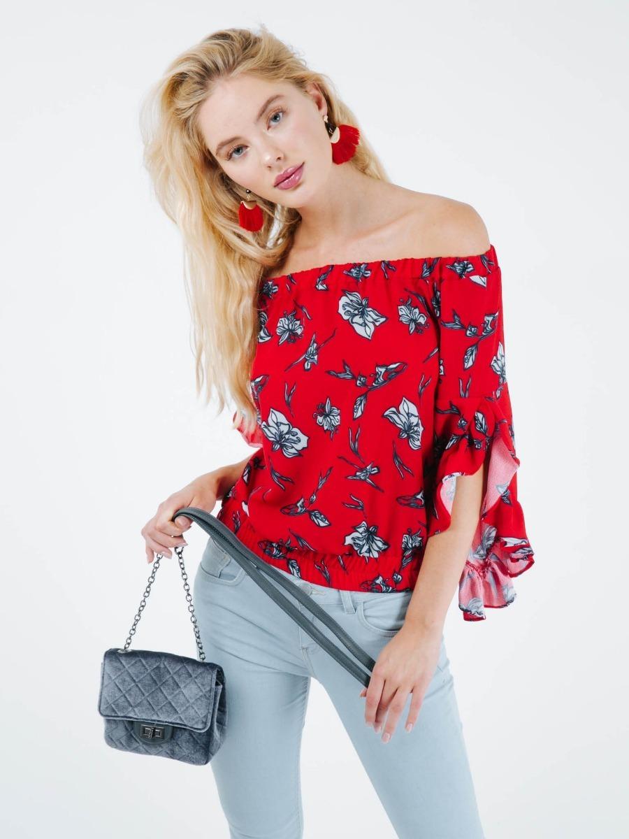 184713538 Blusa Para Dama Hombros Descubiertos Flores -   269.00 en Mercado Libre