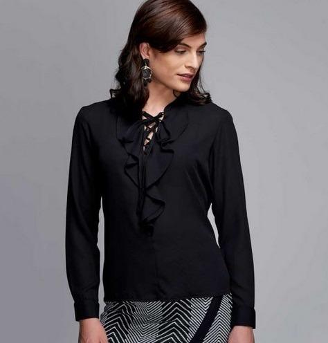 aa39a21dc Blusa Para Dama Yaeli Fashion Color Negro 182079 Pd.18.jm -   338.00 ...