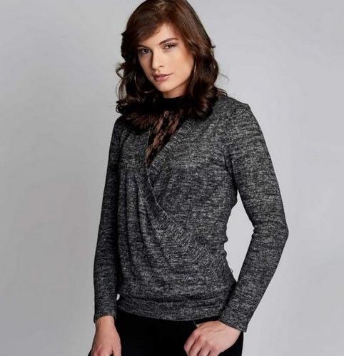 2fc4196b4 Blusa Para Dama Yaeli Fashion Gris Jaspe 182073 Pd.18.jm -   445.00 ...