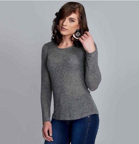 ac0405fce Blusa Para Dama Yaeli Fashion Gris  Negro 182069 Pd.18.jm -   349.00 ...