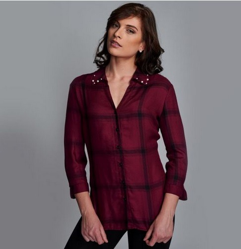 e93d0f822 Blusa Para Dama Yaeli Fashion Vino  Negro 182066 Pd.18.jm -   401.00 ...