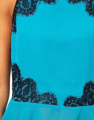 blusa para mujer con encaje en la espalda xs / s