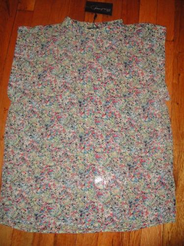 blusa patterson j. kincaid flores talla small ( 366 )