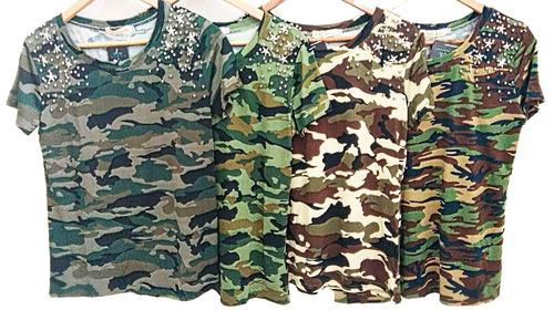 blusa pedraria roupas feminina estampada atacado manga curta
